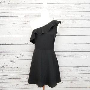 Banana Republic black one shoulder dress NWT